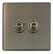 G/&h Spectre SFB13 plaque Matt Noir 3 Gang 1 Ou 2 Voies 40-400 W variateur d/'intensité