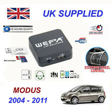 Renault MODUS MP3 SD Card Reader USB CD AUX Input Audio Adapter Digital