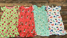 Gymboree Girls Pajamas Nightgowns Bear Bubble Bee Butterfly Ladybug Guc S 5-6