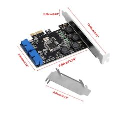 19Pin 2 Port USB 3.0 Card PCI-e to Internal 20Pin Male Ports Adapter PCI Express