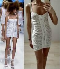 AUTH Rare Vintage 2006 Dolce & Gabbana White Lace Up Dress 38