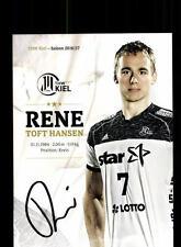 Rene Toft Hansen Autogrammkarte THW Kiel 2016-17 Original  Handball + A 166256
