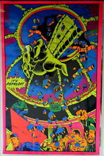 INCREDIBLE HULK - PSYKLOP THIRD EYE BLACKLIGHT POSTER 1971 Rare Marvelmania
