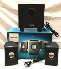 Philips ~ Multimedia Speakers / Subwoofer 2.1 ~ Black ~ 10W RMS ~ SPA1330/37