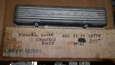 Corvette Finned Aluminum Valve Cover NOS Original GM staggered bolts