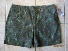 New Lee Women's Essential Chino Midrise Shorts Spearmint Palm Springs Print 14