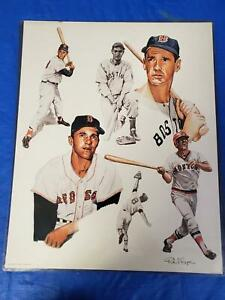 Vintage Portrait Red Sox GOAT Greatest Of All Time 18x24 Poster