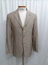 Armani Collezioni Men's Silk Linen Wool Tan Brown Blazer Jacket Sport Coat 40 R