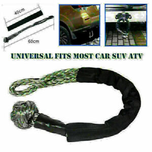 10T ATV Off-Road UTV Towbar Connecting Rope Winch Pull Line Cable Nylon Towing