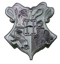 Harry Potter HOGWARTS - Schul Hauswappen Grau Logo - Uniform Patch Aufnäher