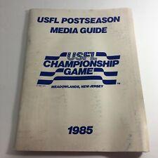 VTG USFL Kickoff Official Post Season Media Guide 1985 - USFL Championship Game
