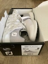 Men's FootJoy New Flex Spikeless Golf Shoes - White, Size 9M, Free Shipping!