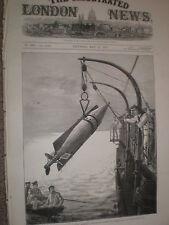HMS Thunderer hoisting a whitehead torpedo aboard after run 1878 print ref Y1