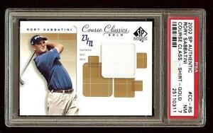 RORY SABBATINI 2002 SP Authentic Golf Course Classics /71 GOLD PSA 7 #1720