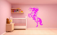 Wall Decal Vinyl Sticker Bedroom Unicorn Nursery Art Fairy Tale Butterfly bo2461