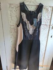 BUFFALO David Bitton Dress Nude Black Lace Katie Slimming Sale M LBD Formal