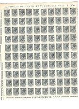 francobollo FOGLIO 50 FRANCOBOLLI 5 LIRe TURRITA, SIRACUSANA 1955