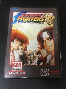 The King of Fighters 98 (Japan) NeoGeo Neo Geo MVS Cart + Shock Box and insert