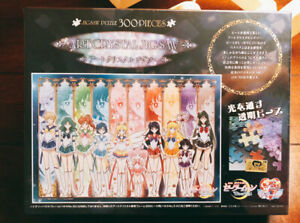 Japan Ensky Art Crystal Jigsaw Puzzle Sailor Moon Clear Stained Glass 300 Pieces