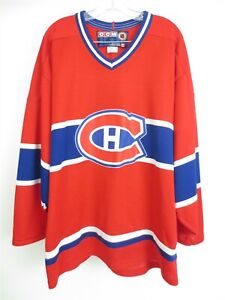 Montreal Canadiens CCM NHL Jersey Home Red Shirt Size Men's XL
