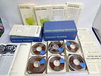 RARE Weird VINTAGE XEROX Effective Reading Learning System Reel Tapes & Books
