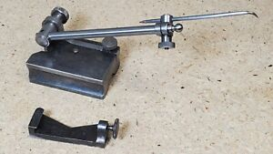 """Vintage Starrett No. 56A surface gage 4"""" spindle hardened with scribe and holder"""