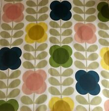 Orla Kiely Summer flower stem multi FQ 50cm Square Lightweight cotton Fabric New