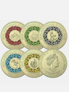 2020 Australian TOKYO Olympic $2 Dollar Coin Set of 5 Coin - UNC