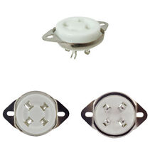 QTY 1 - Socket - 4 Pin, Ceramic, Chassis Mount - Fits Tube 45, 2a3, 300b simliar