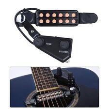 """Clip-on Acoustic Electric Guitar Pickup Audio Transducteur Amplificateur 12 trous 1/4"""""""