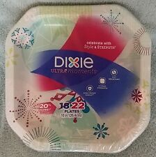 "Dixie Ultra Moments 22 Red Teal Green colors 8 sided 10"" hard to find plates NIP"