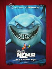 FINDING NEMO * 2003 ORIGINAL MOVIE POSTER 1SH D/S ADVANCE JAWS SHARK DORY NM-M
