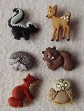 Vestirla Botones ~ Bosque Bebés ~ Erizo ~ Búho ~ Fox ~ Ciervo ~ Beaver +