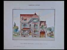 VILLA A MORIGNY - 1908 - GRANDE PLANCHE COULEUR - ALBERT TURIN