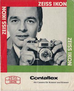 Zeiss Ikon Brochure For Contaflex