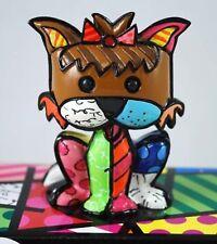 ROMERO BRITTO 'Precious' 2010 Mini Yorkshire Terrier Sculpture Dog Figurine NEW!