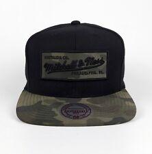 Mitchell & Ness Basecap Snapback Brand Logo camo Patch  black 3D