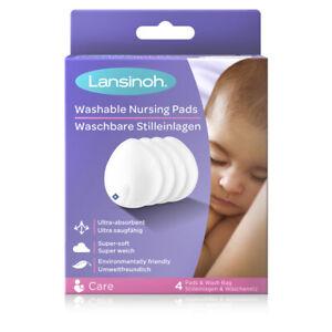 Lansinoh Washable Nursing Pads   Teardrop Contoured Bamboo Viscose Pad   Breast