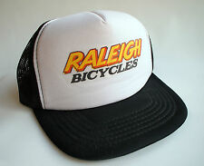 Raleigh Bicycles Snapback Trucker Hat Black White Bike