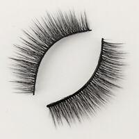 3 Pairs 100% Real Mink 3D Makeup Cross False Eyelashes Eye Lashes Handmade Soft