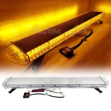 "53"" LED 108W Strobe Light Bar Emergency Beacon Warning Response Signal Top Amber"