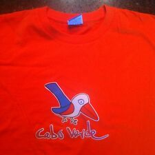 CABO VERDE Tee T Shirt Size XL XLarge BRIGHT SOLID ORANGE Tweet Bird NEW