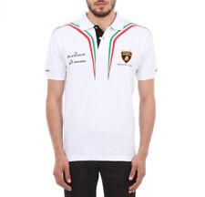 Mens Polo Shirt Lamborghini Tricolore white - size S