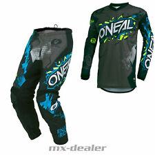 2021 O'Neal Element KINDER Villain Grau MX Motocross Combo Cross Hose Jersey