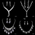 Fashion Wedding Bridal Accessories Rhinestones Necklace Earrings Jewelry Sets