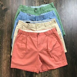 LANDS END L.L. Bean Shorts 35/36 4 Pairs Casual Cotton Chino Golf Multi Color
