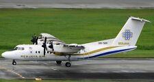 De Havilland DHC-7 Berjaya Air DHC 7 Airplane Mahogany Wood Model Large New