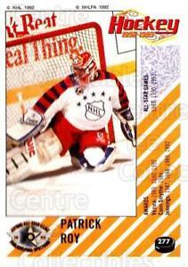 1992-93 Panini Stickers #277 Patrick Roy