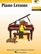 Piano Lessons Bk 3 - BK/Online Audio Pack - Rev Edition, Hal Leonard Student