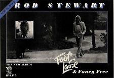 5/11/77PN18 ADVERT: ROD STEWART ALBUM FOOT LOOSE & FANCY FREE 11X15